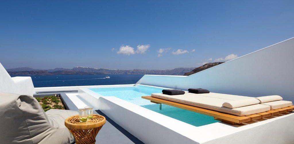 فنادق سانتوريني على البحر
